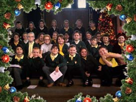 The children at Crosby wishing you a merry Christmas
